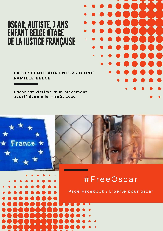 Oscar, 7 ans, autiste, belge, détenu en France depuis 4 mois